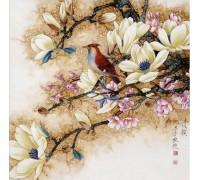 Алмазная вышивка Птица на ветке 30*30 см (арт. FS009)