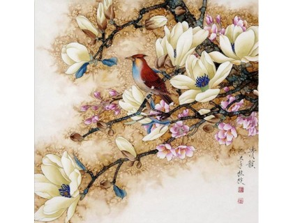 Купить Алмазная вышивка Птица на ветке 30*30 см (арт. FS009)