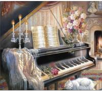 Алмазная вышивка Вечер возле пианино  40*50 см (арт. FS698)
