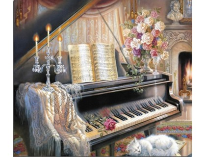Купить Набор алмазной мозаики Прекрасное фортепиано 40*30 см (арт. FS015)