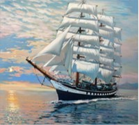 Набор алмазной мозаики Корабль в море 20*25 см (арт. FS021)