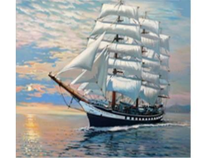Купить Набор алмазной мозаики Корабль в море 20*25 см (арт. FS021)