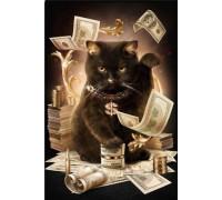 Набор алмазной вышивки 50 х 40 см на подрамнике Богатый кот (арт. TN026)