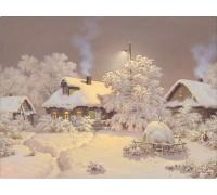 Набор алмазной вышивки Зимний пейзаж 30 х 40 см (арт. FS027)