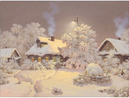 Купить Набор алмазной вышивки Зимний пейзаж 30 х 40 см (арт. FS027)