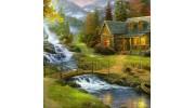 Пейзажи, природа, парк, загородный дом алмазная вышивка