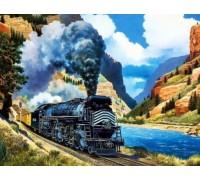 Алмазная вышивка Путешествие на поезде 26 х 20 см (арт. FR088)