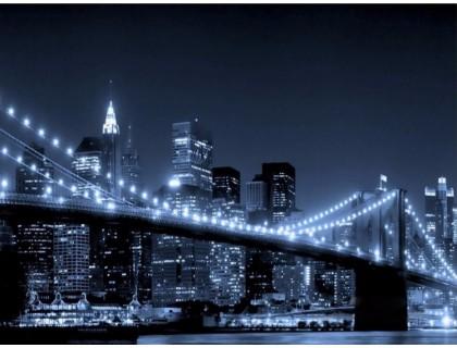 Купить Алмазная мозаика Город в ночных огнях 50 х 60 см (арт. FR450)