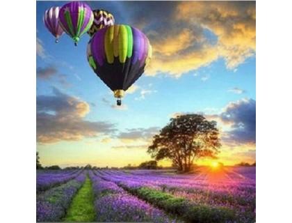 Купить Алмазная вышивка Пейзаж с воздушными шарами 30 х 30 см (арт. FS042)