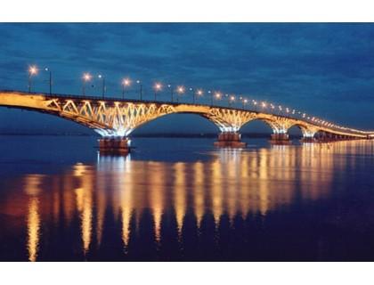 Купить Алмазная вышивка Мост при свете фонарей 50 х 30 см (арт. FS255)
