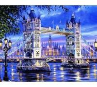 Алмазная вышивка Тауэрский мост. Лондон. 50 х 40 см (арт. FS257)