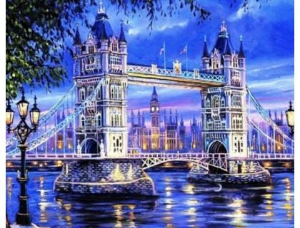 Купить Алмазная вышивка Тауэрский мост. Лондон. 50 х 40 см (арт. FS257)