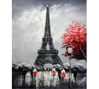 Алмазная мозаика Эйфелева башня для тебя 30*40 см (арт. FS339)