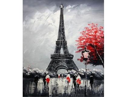 Купить Алмазная мозаика Эйфелева башня для тебя 30*40 см (арт. FS339)