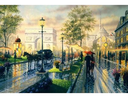 Купить Алмазная мозаика Вечерний город 50*40 см (арт. FS392)