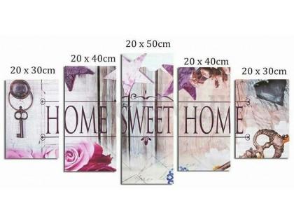 Купить Набор мозаики алмазной модульная Полиптих Любимый дом 100 х 50 см (арт. FS569)