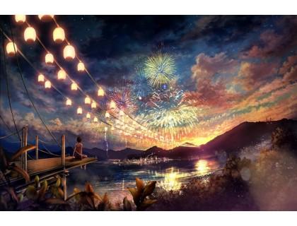 Купить Алмазная вышивка 5D Волшебный вечер 40 х 50 см (арт. FS593)