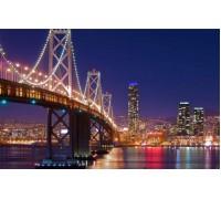 Алмазная вышивка Ночной Нью-Йорк 40 х 50 см (арт. FS596)