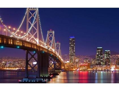Купить Алмазная вышивка Ночной Нью-Йорк 40 х 50 см (арт. FS596)