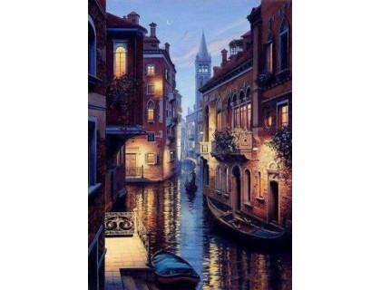 Купить Выкладка мозаика стразами Венеция в ночи 40 х 55 см (арт. FS626)