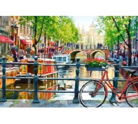 Алмазная мозаика Летний Амстердам 60 х 40 см (арт. FS742)