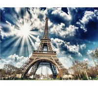 Набір алмазної мозаїки Весна у Франції 40 х 50 см (арт. FS821)