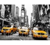 Алмазная вышивка без коробки MyArt Такси Нью-Йорка 40 х 50 см (арт. MA758)
