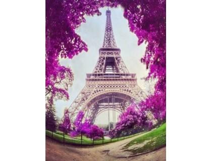 Купить Алмазная вышивка 40 х 30 см на подрамнике Путешествие в Париж (арт. TN517)