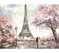 Алмазная вышивка 50 х 40 см на деревянном подрамнике Французская весна (арт. TN894)