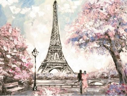 Купить Алмазная вышивка 50 х 40 см на деревянном подрамнике Французская весна (арт. TN894)