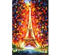 Алмазная вышивка 30 х 20 см на подрамнике Париж, Эйфелева башня (арт. TN973)
