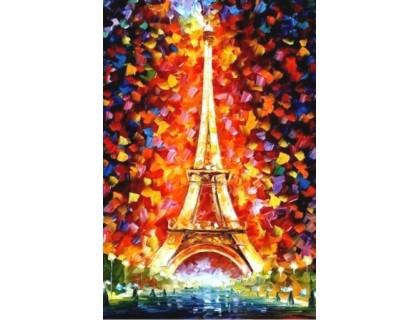 Купить Алмазная вышивка 30 х 20 см на подрамнике Париж, Эйфелева башня (арт. TN973)