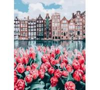 Набор алмазной вышивки 50 х 40 см на подрамнике Тюльпаны Амстердама (арт. TN997)