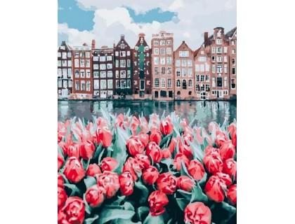 Купить Набор алмазной вышивки 50 х 40 см на подрамнике Тюльпаны Амстердама (арт. TN997)