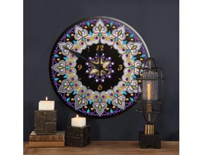 Часы в алмазной мозаике Орнамент (FT012)