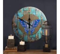 Часы с алмазной вышивкой Бабочка (FT014)