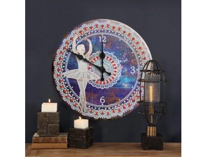 Часы в алмазной вышивке Балерина (FT011)