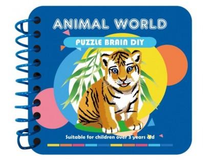 Детская книжка с алмазной вышивкой Животные (FT015)