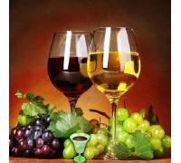Алмазная вышивка Два бокала вина 30 х 30 см (арт. FR142)