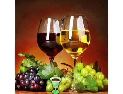 Купить Алмазная вышивка Два бокала вина 25х 20см (арт. FR142)