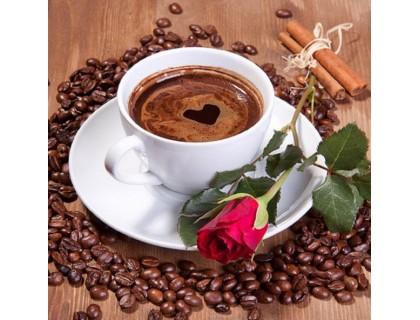 Купить Набор алмазной вышивки Роза с кофе 25 х 25 см (арт. FS053)