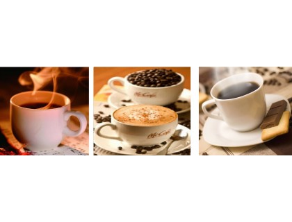 Купить Алмазная вышивка Триптих. Пара чашек кофе 30 х 60 см (арт. FS085)