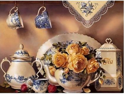 Купить Алмазная вышивка Приглашение к чаепитию 40 х 30 см (арт. FS111)