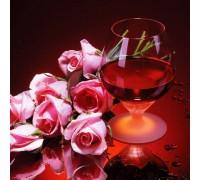 Алмазная вышивка Вино и розы 30 х 30 см (арт. FS209)