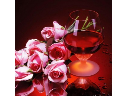 Купить Алмазная вышивка Вино и розы 30 х 30 см (арт. FS209)