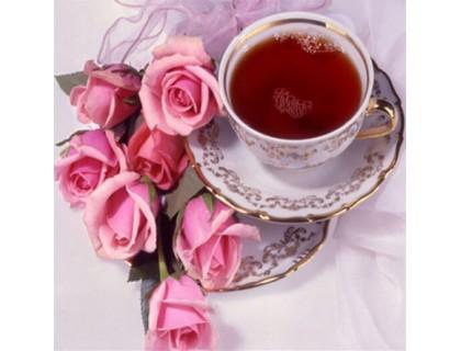 Купить Алмазна вишивка Троянди та чай 30 х 30 см (арт. FS432)