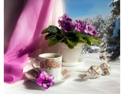 Купить Набор алмазной вышивки Вкусное чаепитие 30 х 40 см (арт. FS462)