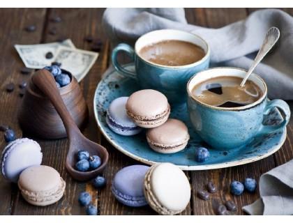 Купить DIY Алмазная вышивка на подрамнике 50 х 40 см Ароматный кофе с десертом (арт. TN648)