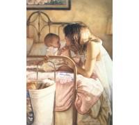 Алмазная вышивка Мама с ребенком 30 х 40 см (арт. FR089)