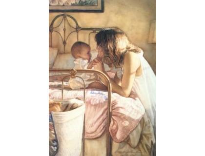 Купить Алмазная вышивка Мама с ребенком 30 х 40 см (арт. FR089)